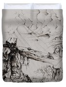 A Man Of Sorrows Duvet Cover