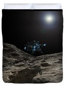 A Manned Asteroid Lander Approaches Duvet Cover