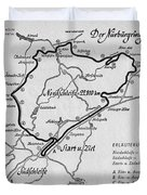 A Map Of The Nurburgring Circuit Duvet Cover
