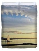 A Marine Lake At Dusk, West Kirby Duvet Cover