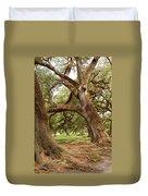 A Maze Of Oak Trees  Duvet Cover