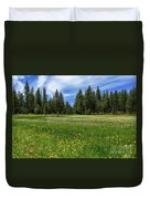 A Meadow In Lassen County Duvet Cover