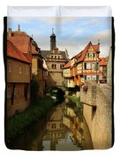 A Medieval Village In Germany Duvet Cover