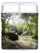 A Medina River Morning Duvet Cover