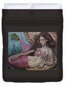 A Mermaid Named Pearl Duvet Cover