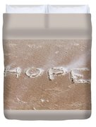A Message On The Beach Duvet Cover