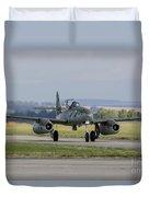 A Messerschmitt Me-262 Replica Taxiing Duvet Cover