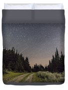 A Meteor And The Big Dipper Duvet Cover