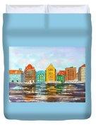 A Modern Take On Curacao Duvet Cover