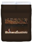 A Moment By The Water Duvet Cover