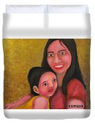 A Moment With Mom Duvet Cover