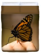 A Monarch Butterfly At The Butterfly Duvet Cover