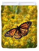 A Monarch World Duvet Cover