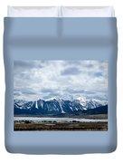 A Montana Village Scape Duvet Cover