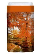 A Morning In Autumn - Lake Carasaljo Duvet Cover