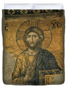 A Mosaic Of Jesus The Christ At St Duvet Cover