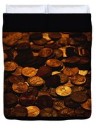 A Mound Of Pennies Duvet Cover