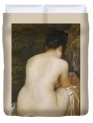 A Naked Woman Seen From Behind Duvet Cover