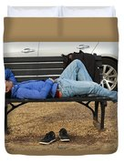 A Nap In The Park Duvet Cover