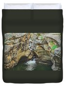 A Natatorium By The Cliff Duvet Cover