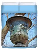 A Navy Yard Urn In Lafayette Square -- West Duvet Cover