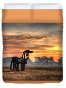 A New Day The Iron Horse Duvet Cover