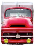 A Nice Red Truck  Duvet Cover