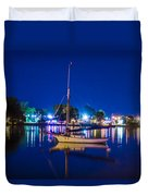 A Night At The Lake Duvet Cover