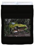 A Non Rolling Car Gathers Some Moss Duvet Cover