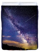 A Northern View Of The Milky Way Duvet Cover