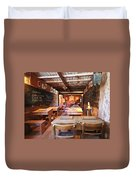A One Room Schoolhouse Of Old Tucson, Tucson, Arizona Duvet Cover