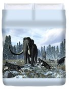 A Pack Of Dire Wolves Crosses Paths Duvet Cover