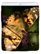 A Painted Lady Butterfly At The Lincoln Duvet Cover