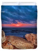 A Painted Sky For The Poet's Eye Duvet Cover