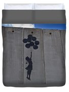 A Painting On The Israeli Separartion Duvet Cover