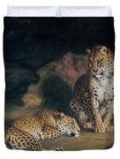 A Pair Of Leopards Duvet Cover