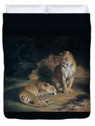 A Pair Of Leopards Duvet Cover