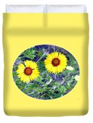 A Pair Of Wild Susans Duvet Cover
