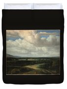 A Panoramic Landscape With A Country Estate Duvet Cover