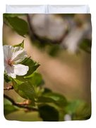 A Panoramic View Of A Cherry Tree Duvet Cover