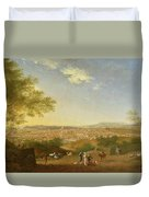 A Panoramic View Of Florence From Bellosguardo Duvet Cover