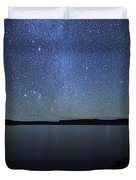 A Panoramic View Of The Milky Way Duvet Cover