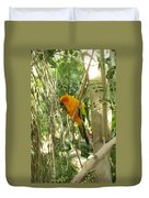 A Parakeet In Paradise Duvet Cover