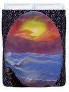 A Pastel Seascape  Duvet Cover