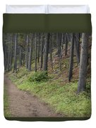 A Path In The Woods Duvet Cover