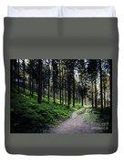 A Path Through A Dense Forest Duvet Cover