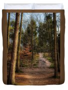 A Path Through The Woods Duvet Cover