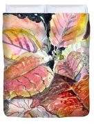 A Peach Of A Poinsettia Duvet Cover