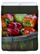 A Peck Of Peppers Duvet Cover