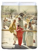 A Peep At The Train, India, 1892 Duvet Cover